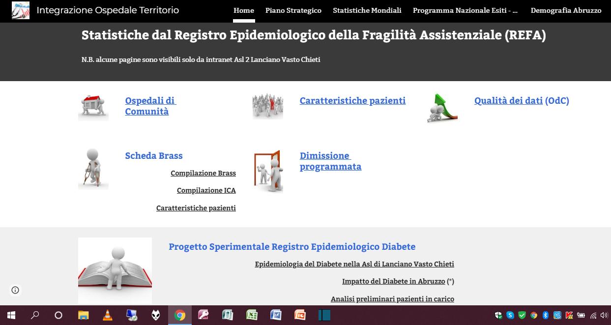 Statistiche dal Registro Epidemiologico della Fragilità Assistenziale